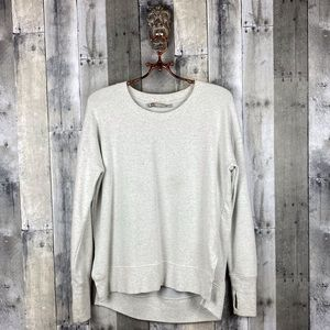 Athleta Light Grey Vented Sweatshirt Size Small